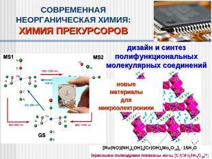 дизайн и синтез полифункциональных молекулярных соединений СОВРЕМЕННАЯ НЕОРГАНИЧ