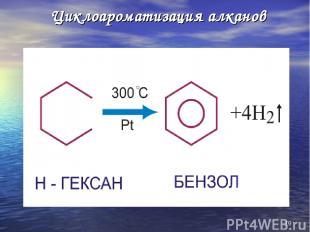 * Циклоароматизация алканов