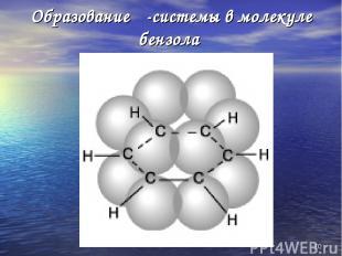 * Образование π-системы в молекуле бензола