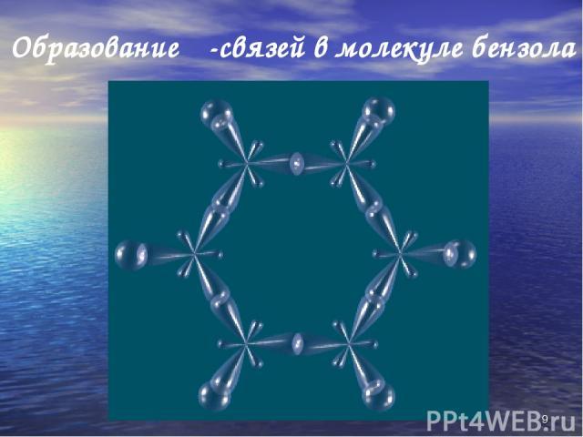 * Образование σ-связей в молекуле бензола