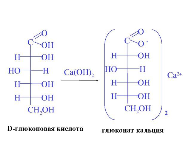 Ca(OH)2 D-глюконовая кислота глюконат кальция