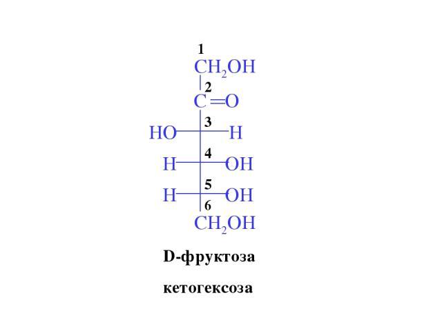 D-фруктоза кетогексоза