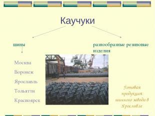 Каучуки шины разнообразные резиновые изделия Москва Воронеж Ярославль Тольятти К