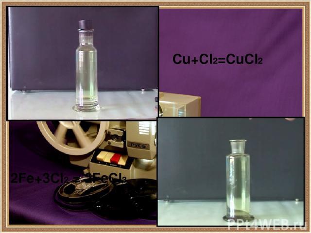 Хлор в органике Хлор является активным реагентом в органическом синтезе. Его атомы входят в состав молекул соединений, относящихся к различным классам органических веществ. CnH2n+2 + Cl2 (на свету) = CnH2n+1Cl + HCl [р. Семенова] CnH2n + Cl2 = CnH2n…