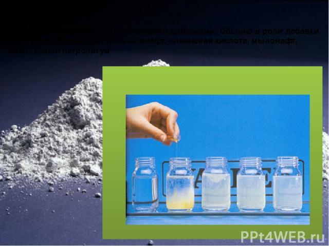 Гидрофобный цемент Это портландцемент с гидрофобными добавками. Обычно в роли добавки выступают асидол, асидолмылонафт, олеиновая кислота, мылонафт, окисленный петролатум