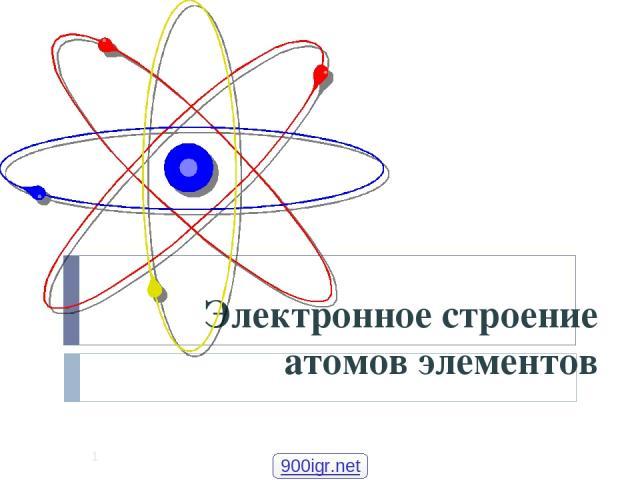 Электронное строение атомов элементов * 900igr.net Шурута Станислав Гендрикович