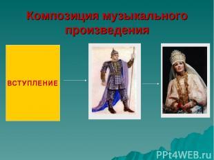 Композиция музыкального произведения ВСТУПЛЕНИЕ
