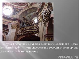 «Труба Господня» («Ancilla Domini»), «Господня Дева» («des НеrrnMagd») — эти опр