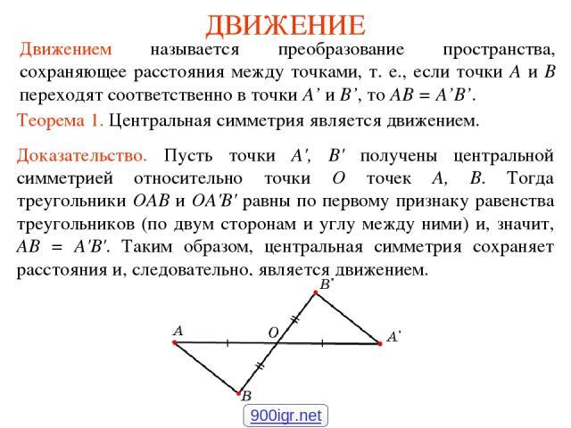 виды движения в геометрии реферат