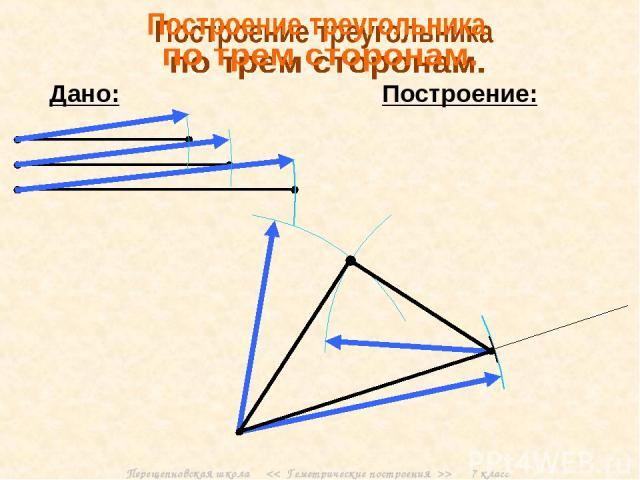 Перещепновская школа > 7 класс Дано: Построение: Перещепновская школа > 7 класс