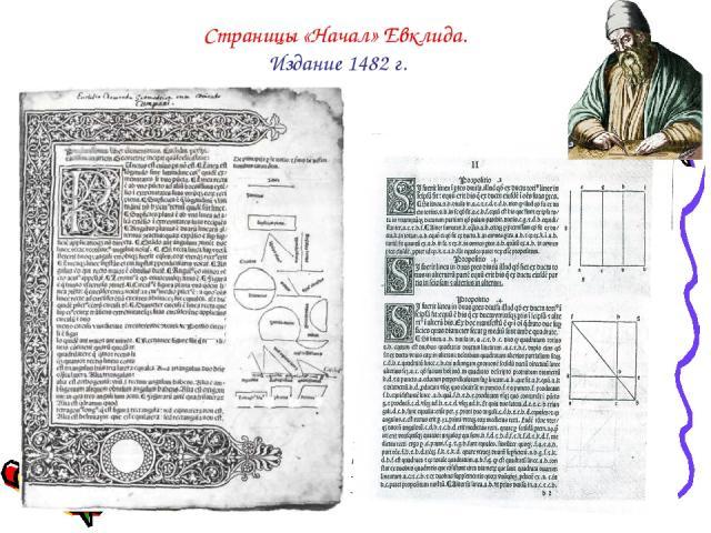 Страницы «Начал» Евклида. Издание 1482 г.