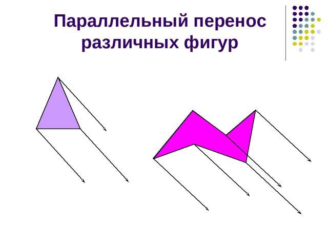 Параллельный перенос различных фигур