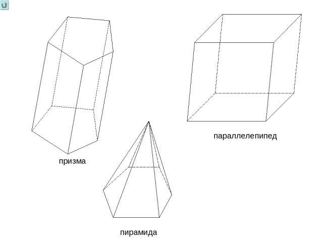 призма параллелепипед пирамида