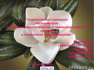 Выполнила: ученица 11 «Б» класса Рябцева К.В. Преподаватель: Чаплоуская Л.Г. Тео