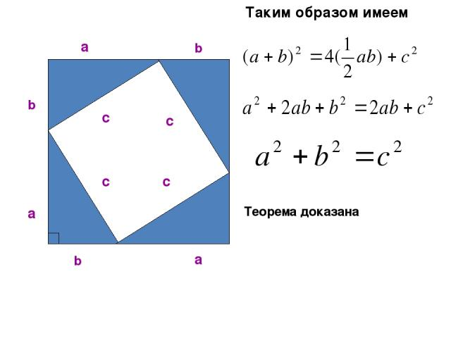 Таким образом имеем Теорема доказана