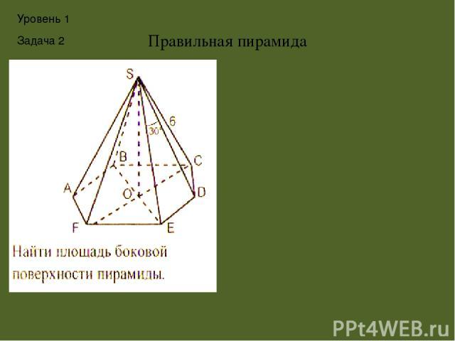 Демоверсия ЕГЭ,2013 В9. Диагональ AC основания правильной четырёхугольной пирамиды SABCD равна 6. Высота пирамиды SO равна 4. Найдите длину бокового ребра SB . Уровень 1 Задача 3