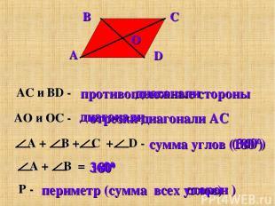 (3600) 1800 диагонали отрезки диагонали AC сторон )
