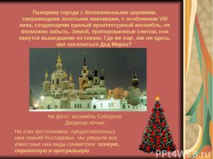 На фото: ансамбль Соборное Дворище ночью Панораму города с белокаменными церквям