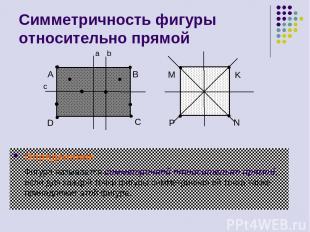 Симметричность фигуры относительно прямой Определение Фигура называется симметри
