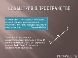 «Симметрия … есть идея, с помощью которой человек веками пытался объяснить и соз