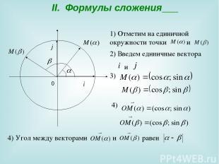 II. Формулы сложения 0