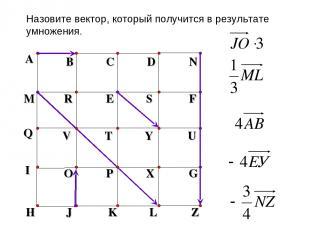 A B C D N M R E S F H J K L Z Q V T Y U Назовите вектор, который получится в рез
