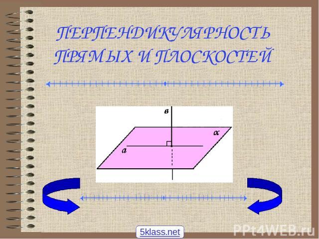 ПЕРПЕНДИКУЛЯРНОСТЬ ПРЯМЫХ И ПЛОСКОСТЕЙ 5klass.net