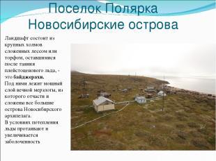 Поселок Полярка Новосибирские острова Ландшафт состоит из крупных холмов сложенн