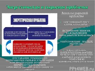 Энергетическая и сырьевая проблемы Аспекты сырьевой проблемы ПОСТОЯННЫЙ РОСТ СПР