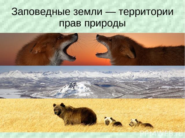 Заповедные земли — территории прав природы