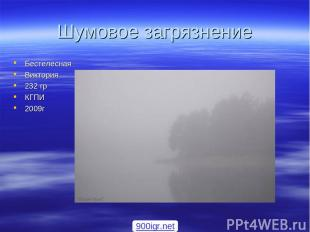 Шумовое загрязнение Бестелесная Виктория 232 гр КГПИ 2009г 900igr.net
