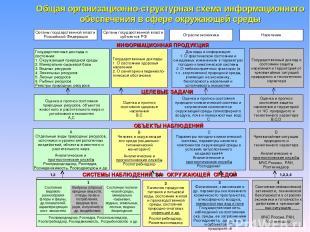 * Общая организационно-структурная схема информационного обеспечения в сфере окр