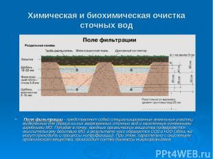Химическая и биохимическая очистка сточных вод Поля фильтрации - представляют со