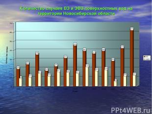 Количество случаев ВЗ и ЭВЗ поверхностных вод на территории Новосибирской област
