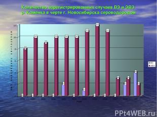 Количество зарегистрированных случаев ВЗ и ЭВЗ р. Каменка в черте г. Новосибирск