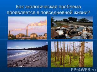 Как экологическая проблема проявляется в повседневной жизни?