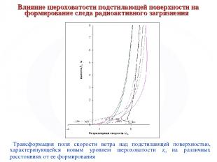 Влияние шероховатости подстилающей поверхности на формирование следа радиоактивн