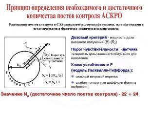 Дозовый критерий - мощность дозы внешнего облучения (В) (R0) Порог чувствительно