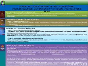 ЗЕМЕЛЬНЫЙ КОДЕКС РОССИЙСКОЙ ФЕДЕРАЦИИ статья 13. Содержание охраны земель В целя