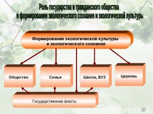 Формирование экологической культуры и экологического сознания Общество Семья Шко