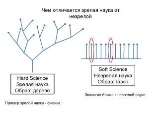Hard Science Зрелая наука Образ: дерево Soft Science Незрелая наука Образ: газон