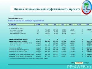 * Оценка экономической эффективности проекта