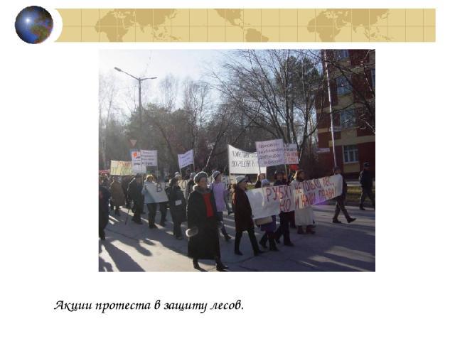 Акции протеста в защиту лесов.