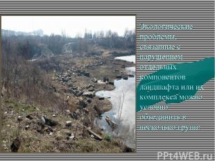 Экологические проблемы, связанные с нарушением отдельных компонентов ландшафта и