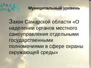 Закон Самарской области «О наделении органов местного самоуправления отдельными
