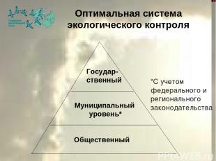 Оптимальная система экологического контроля Общественный Муниципальный уровень*