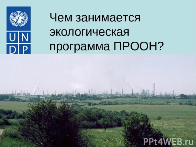 Чем занимается экологическая программа ПРООН?