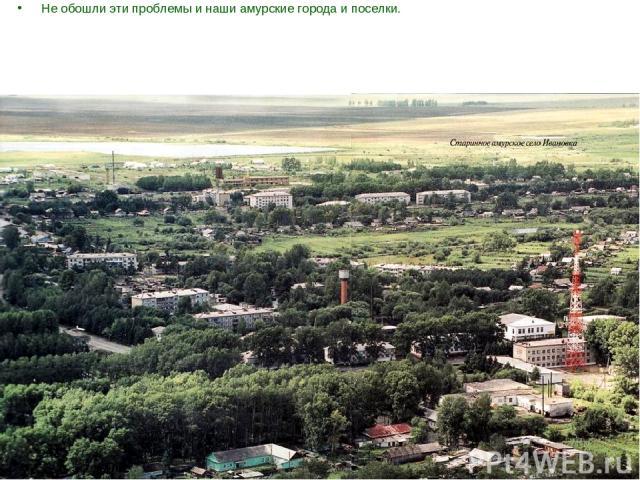 Не обошли эти проблемы и наши амурские города и поселки.