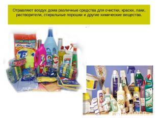 Отравляют воздух дома различные средства для очистки, краски, лаки, растворители