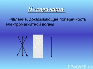 Поляризация явление, доказывающее поперечность электромагнитной волны